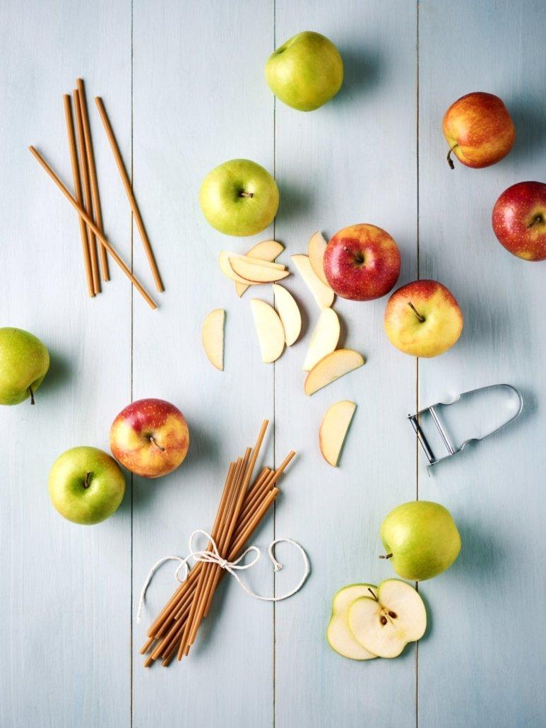 pajita manzana comestible para beber